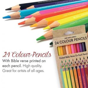 Colouring Pencils with Bible Verses - Pack of 24 - Buy Online here