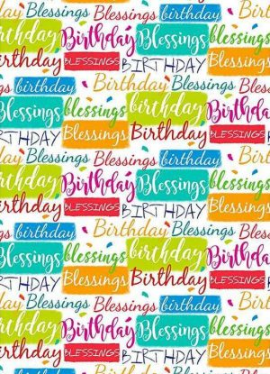 Gift wrap & tags - Birthday blessings - wrap - Buy Christian Books & Gifts Online here
