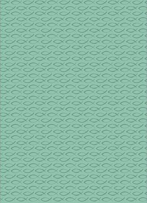Gift wrap & tags - Ichthus fish - Teal - wrap - Buy Christian Books & Gifts Online here