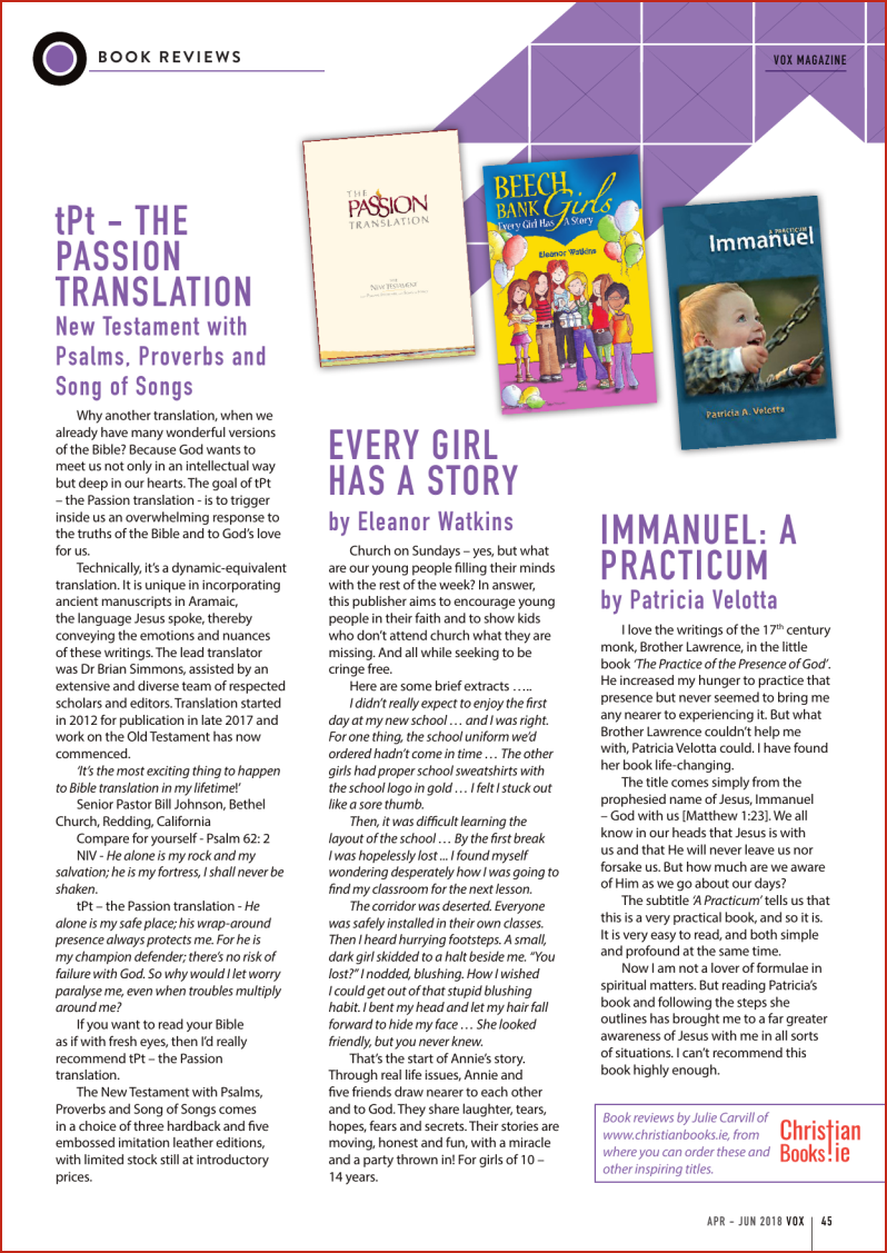VOX Magazine 38 Apr-Jun 2018 Book Reviews - Buy Christian Books Online here