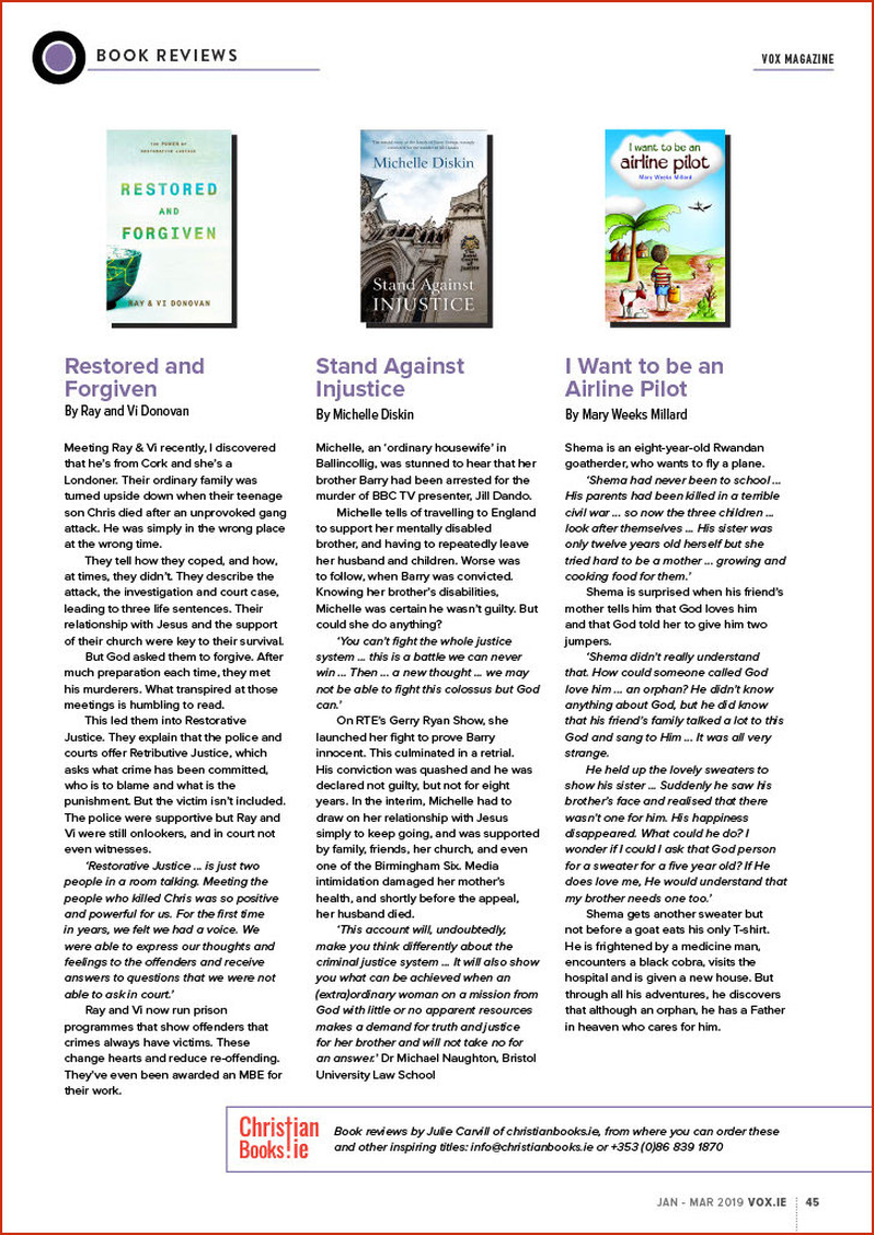 VOX Magazine 41 Jan-Mar 2019 Book Reviews - Buy Christian Books Online here