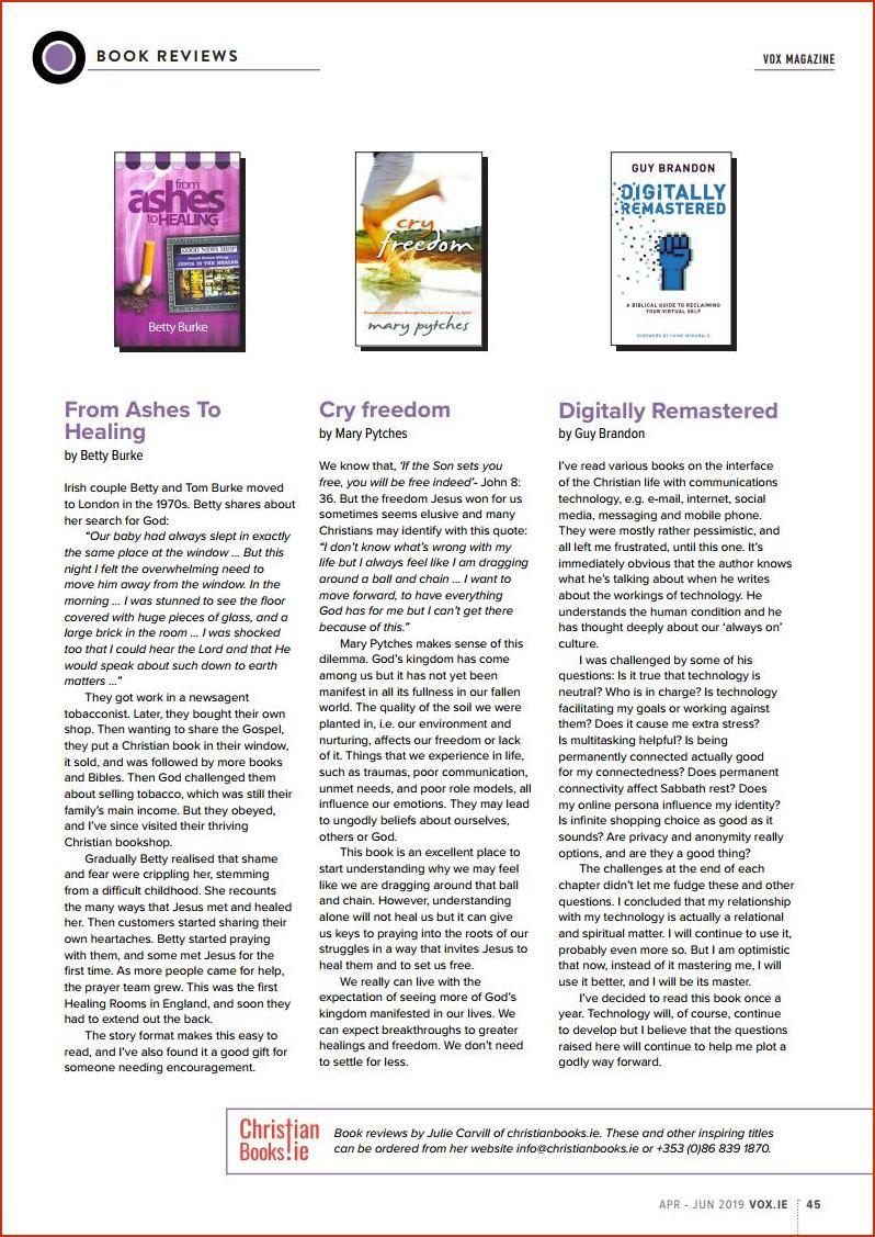 VOX Magazine 42 Apr-Jun 2019 Book- Reviews - Buy Christian Books Online here