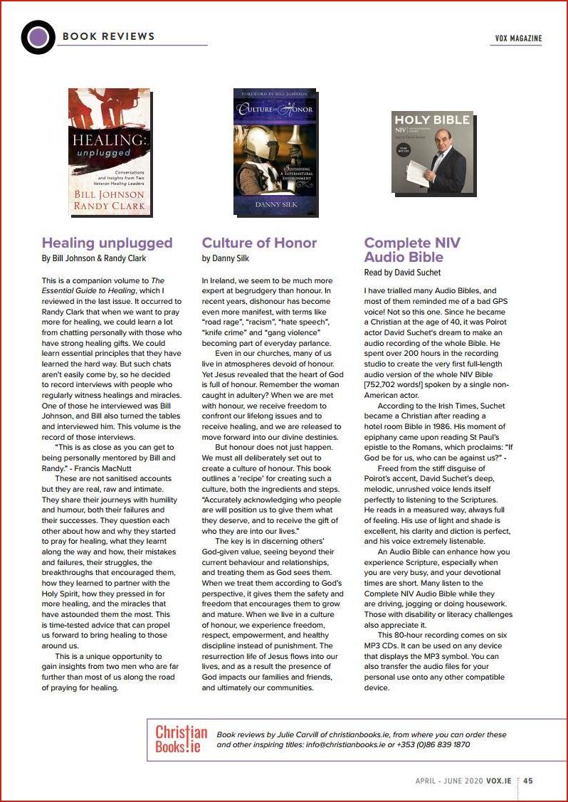 VOX Magazine 46 Apr-Jun 2020 Book Reviews - Buy Christian Books Online here