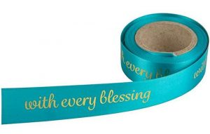 Gift Ribbon - With every Blessing - Teal - Buy Christian Books & Gifts Online here