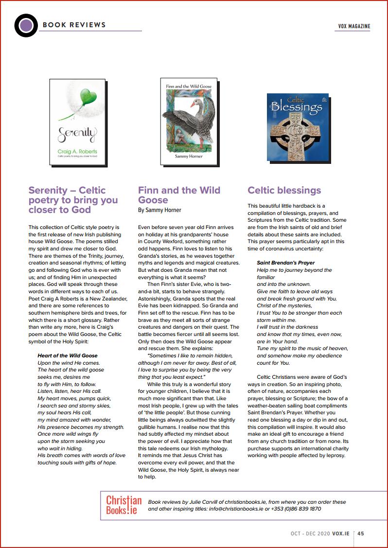 VOX Magazine 48 Oct-Dec 2020 Book Reviews - Buy Christian Books Online here