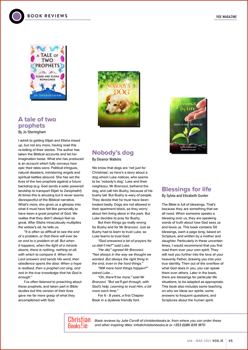 VOX Magazine 49 Jan - Mar 2021 Book Reviews - Buy Christian Books Online here