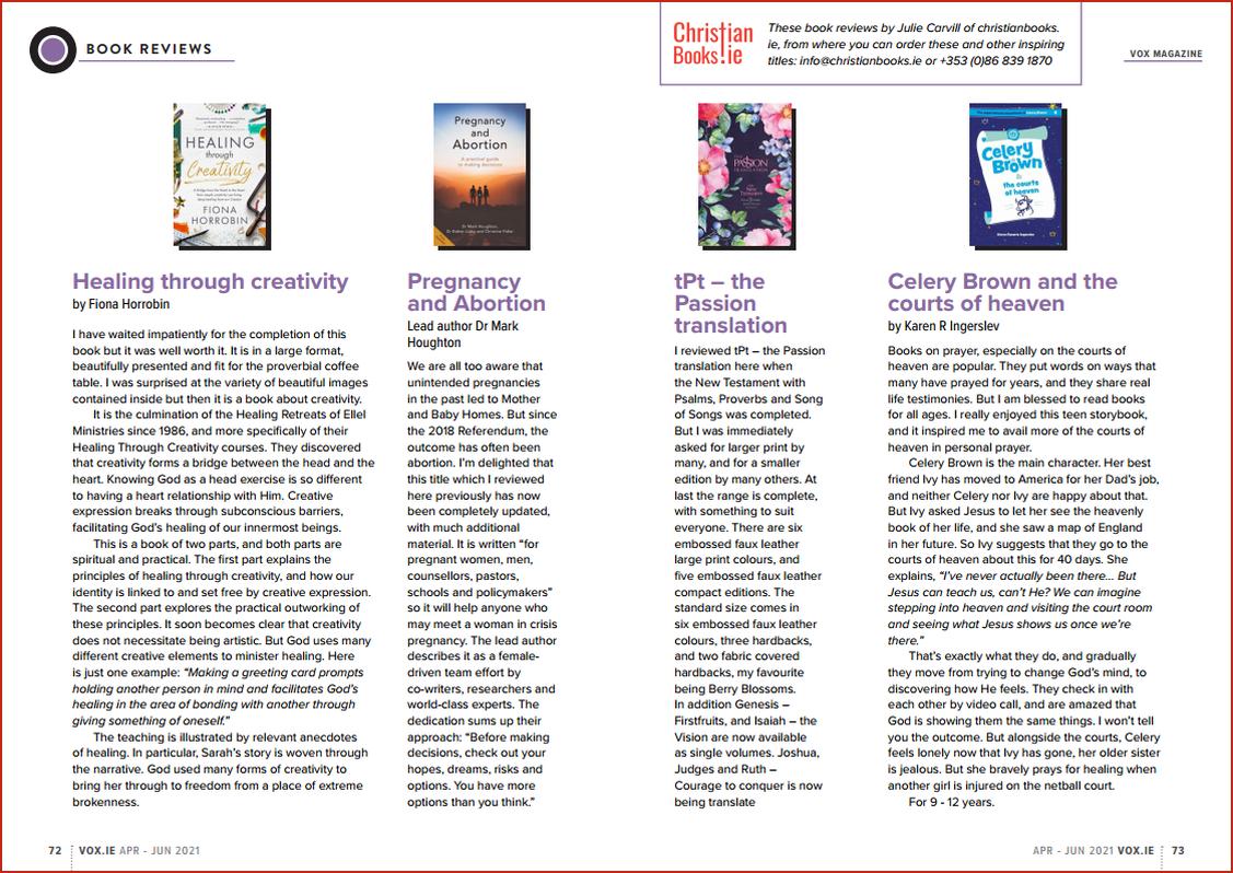 VOX Magazine 50 Apr-Jun 2021 Book Reviews - Buy Christian Books Online here